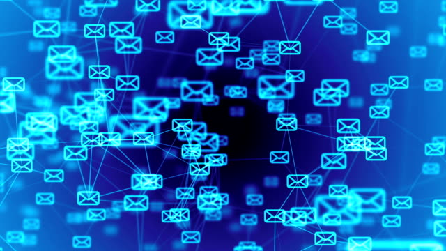blue email animation