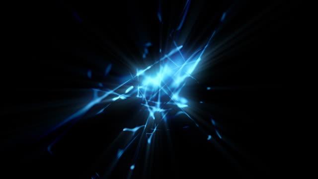 Blue blinkt und Bewegungen, auf schwarzem Hintergrund