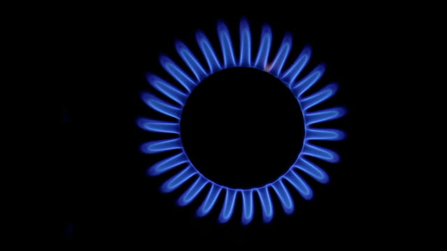 Blue Gas Flame.