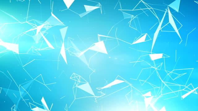Triangoli blu geometrico (ad anello)