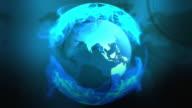 Blue globe loopable