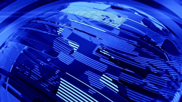 Blue Glossy Globe