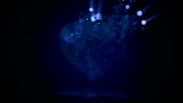 Blauw hart deeltje animatie