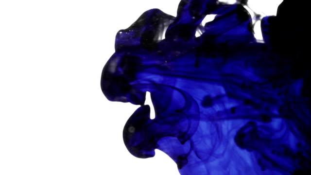 Blue Ink Cloud in Water