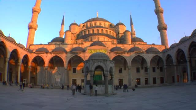 MS LA TU Blue Mosque at sunset, Istanbul, Turkey