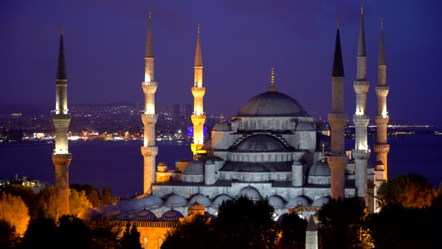 Blue Mosque - Sultan Ahmet Camii in the night.   Istanbul - Turkey