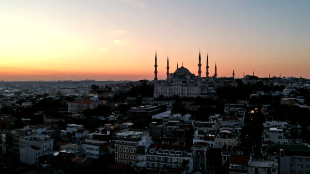 Blauwe moskee terwijl Sunrise, Istanbul, Turkije
