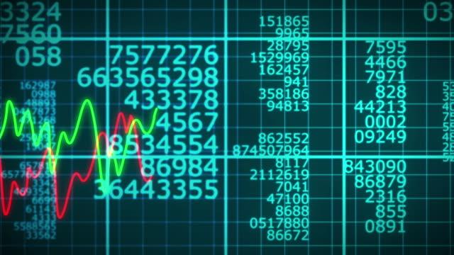 Blå nummer Matrix flyttar sömlös Loop Animation