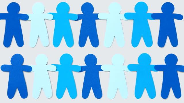 Blue paper boys chains