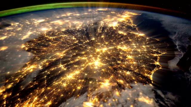 Blue Planet Earth Seen from the International Space Station, ISS