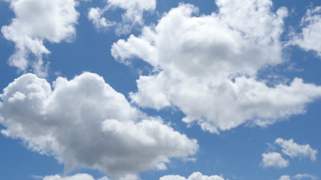 Blue sky and white clouds time lapse