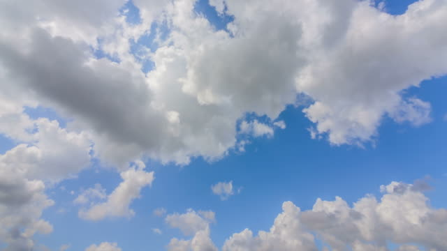 Blue sky in cloudy day