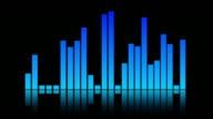 Blue sound mixer equaliser