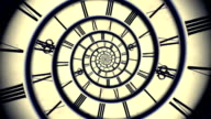 Blaue Spirale retro-animation