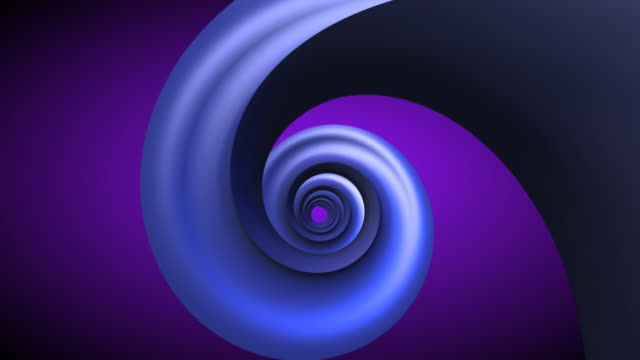 Blue Spiral - Spinning spring in tunnel (HD 720 ORIGINAL)