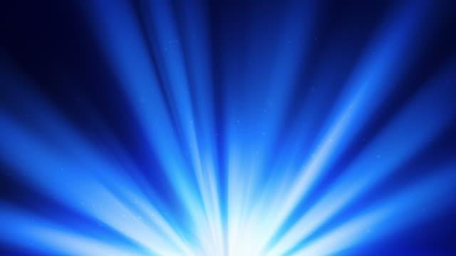 Blue spotlights rotating