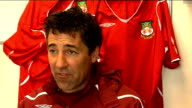 Wrexham Dean Saunders interview Saunders interview SOT Many people were surprised that he took job and many people told him not to do it / If it had...