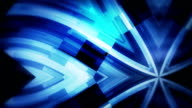 Blue technology loopable wavy  kaleidoscope background