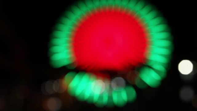 Blur of ferris wheel