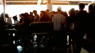 Blurred crowd people in rush hour at skytrain