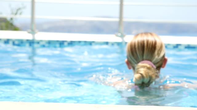 Blurred effect & splashing the water at pool