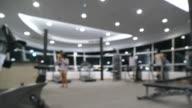blurred  fitness area