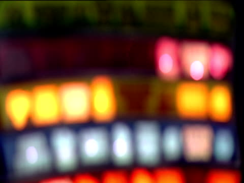 Blurred flashing lights on slot machine