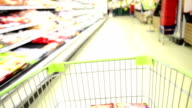 Blurred Motion Shopping Cart
