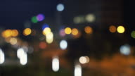 Blurred night lights in the city.