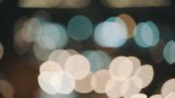 blurred street light