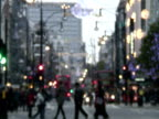 Blurred Winter / Holiday Shoppers
