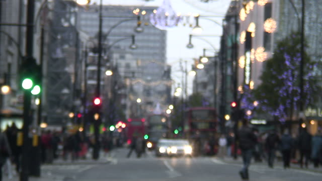 (HD1080i) Blurred Winter / Holiday Traffic, London -Time Lapse-