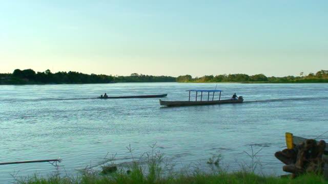 Boat along Beni river, Bolivia, Amazon