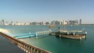 Boat at jetty in Abu Dhabi