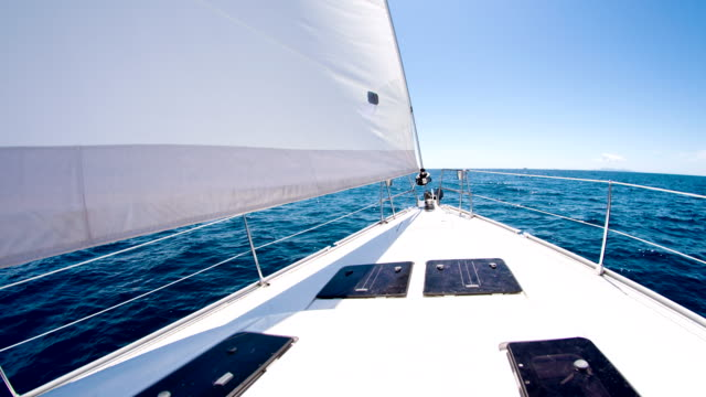 MS Boat Deck Of A Sailboat