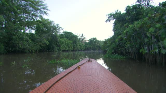 MS POV Boat moving through lake / Venezuela