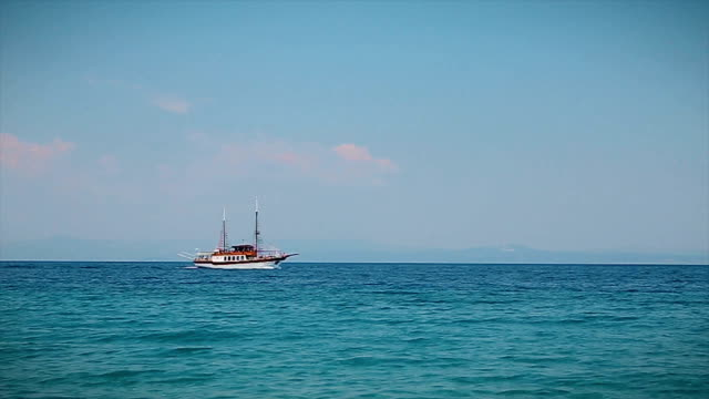 Boat on the sea,b roll