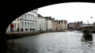 HD: Boat riding in Ghent ancient town Belgium