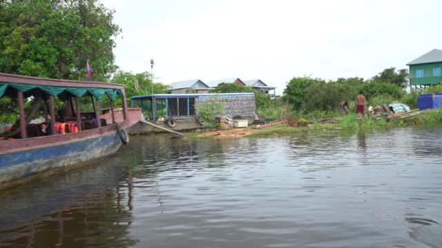 Boats Docked in Tonle Sap Lake
