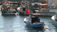 Boats floating on water in Istanbul, Turkey