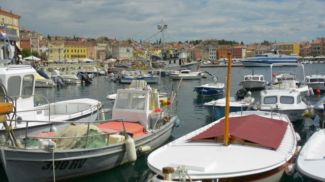 Boats in the town harbour.