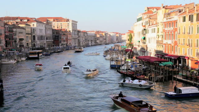HA Boats traveling on Grand Canal / Venice, Italy