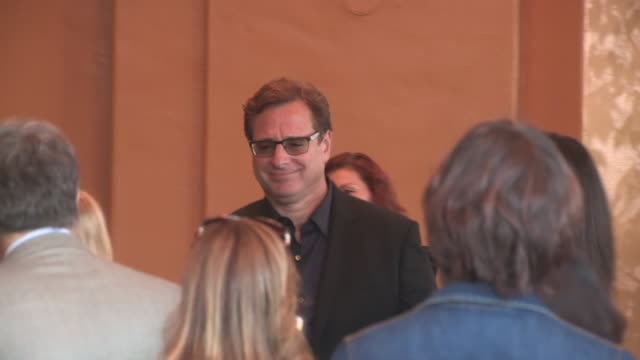 Bob Saget enters the Entourage Premiere in Westwood in Celebrity Sightings in Los Angeles