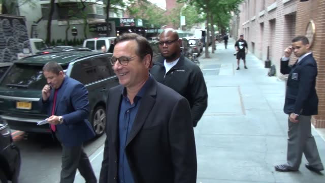 Bob Saget outside the BUILD Series in New York in Celebrity Sightings in New York