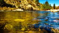 Körper von mountain river water