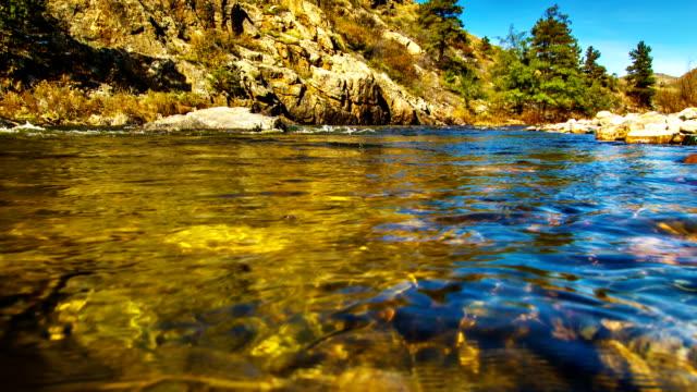 Corpo di acqua del fiume di montagna