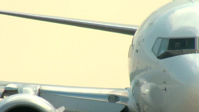 Boeing 737 Airplane Shot - Closeup Taxi