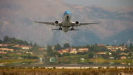 Boeing 737 holiday flight taking off from Corfu.