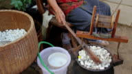 Boiling Silkworm Cocoons.