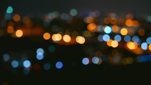 HD Bokeh light blur city